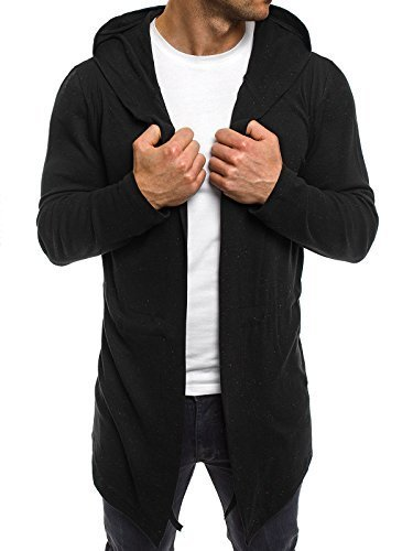 OZONEE Herren Strickjacke Kapuzenpullover Hoodie Sweatshirt MADMEXT 1888 L - Sport Mann Blazer