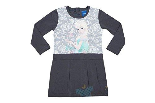Eiskönigin Mädchen Kleid Freizeit-KLEID Festkleid langarm ROSA oder GRAU in Gr 104 110 116 122 128...