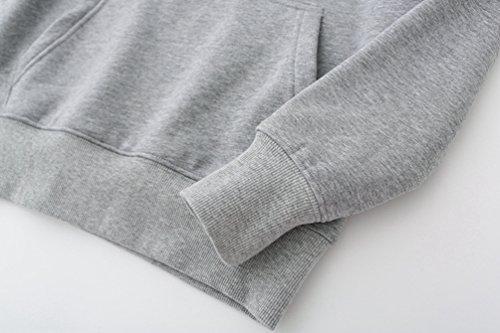 WanYang Femmes Sweat Polaire Hauts Veste Manteau Outwear Pull Mesdames Casual Top Blouse Pullover Arbre Gris