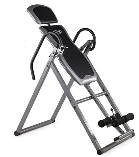 body-coach-panca-ad-inversione-pieghevole-argento-silber-schwarz