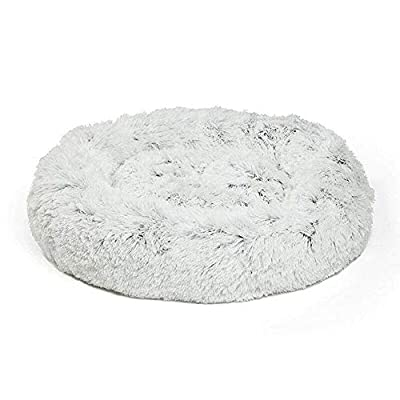 DolMaring New Pet Bed,Shag Pet Bed,Faux Pet Bed,Cat Bed-Fur Donut Cuddler Warm Plush Dog Puppy Mat by DolMaring