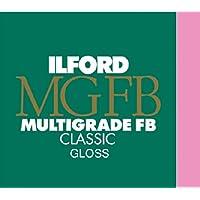 Ilford Classic MGFB 1K - Papel para positivado blanco y negro (brillo, 24x30.5cm, 10 hojas)