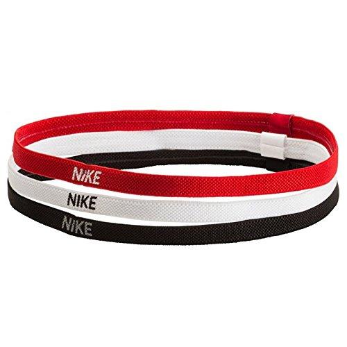 Nike Elastic Hairbands 3pk - Black/White/Red