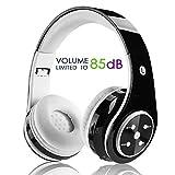 Kabellose Bluetooth Faltbare Kopfhörer für Kinder Jugendliche Leicht tragbare Headset mit Mikrofon Sportkopfhörer Hi-Fi Audio Lautstärkebeschänkung Over Ear Stereo Bügelkopfhörer