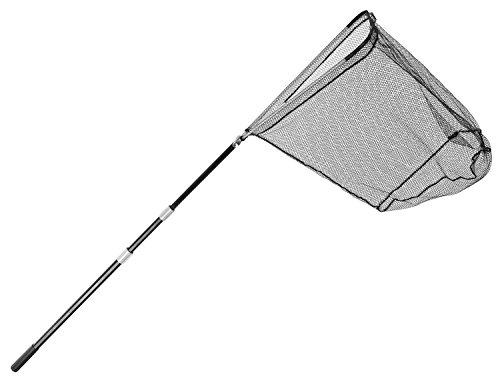 Stabiler Teleskop Kescher von Arapaima® mit gummiertem Netz in 2 Längen und Farben - 305cm - Schwarz