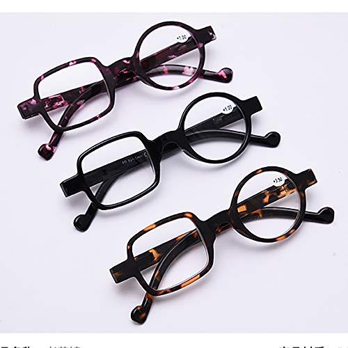 Frauen Männer Lesebrille Presbyopie Brillen Wert 3 Pack Älteren Brillen Persönlichkeit Mode Kunststoff Lesegeräte Überraschende Design Anti-Müdigkeit Anti Smudgy Schlaf Besser,A,1.5