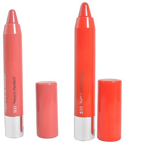 7Heaven'S Combo Of 2 Pcs Photogenic Chubby Lip Crayon Shade-(Peach Perfect-503)(Two Ton Tomato-510)