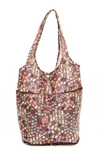 Lightweight Frauen Mädchen faltbaren Strandtasche / Einkaufstasche (Spring M104A)