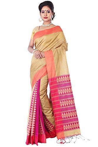 Tj Sarees Handloom Premium Quality Cotton Silk Bihu Jamdani Sarees