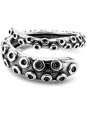 Oktopus Tentakel Ring Größenverstellbar 925 Sterling Silber by Serebra Jewelry