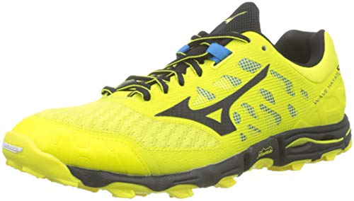 Mizuno Wave Hayate 5, Scarpe da Trail Running Uomo, Giallo (Bolt/Black 09), 46 EU