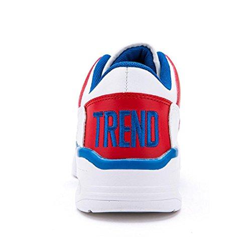 Uomo Moda Scarpe sportive Spessore inferiore Aumenta le scarpe formatori Scarpe da pallacanestro Scarpe da corsa Antiscivolo euro DIMENSIONE 39-44 red