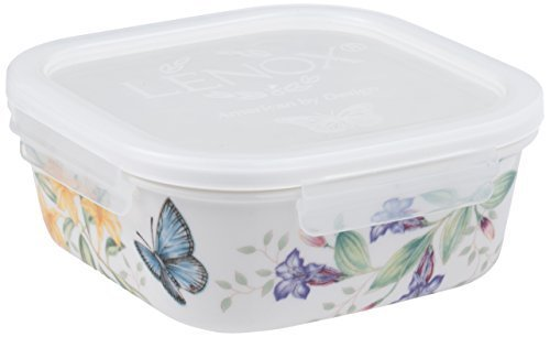 Lenox Butterfly Meadow Serve and Store Container Bowl, Square by Lenox Butterfly Square Bowl