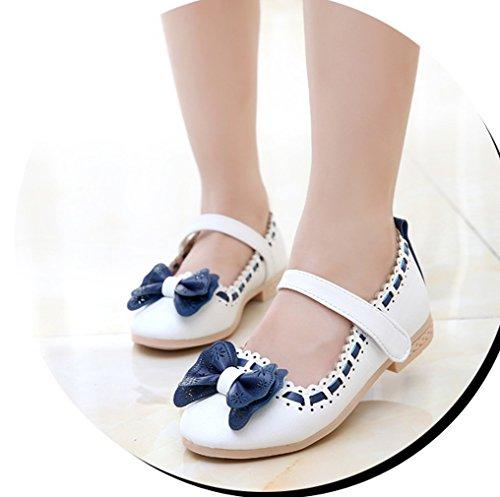 Lukis Kinderschuhe Mädchen Ballerina Prinzessin Festliche Schuhe Lackschuhe mit süß Schleife Weiß