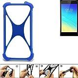 K-S-Trade Handyhülle für TP-LINK Neffos Y5S Silikon Schutz Hülle Cover Case Bumper Silikoncase TPU Softcase Schutzhülle Smartphone Stoßschutz, blau (1x)