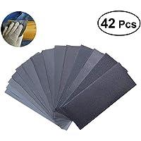 OUNONA 42 piezas Discos de lija,grano 120/150/180/240/320/400/600/800/1000/1200/1500/2000/2500/3000