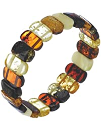 Nature d'Ambre - 3180435 - Bracelet Femme - Élastique - Ambre Multicolore