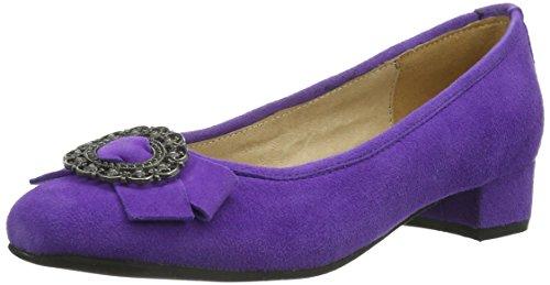 HIRSCHKOGEL Damen 0594394060 Geschlossene Ballerinas Violett (lila) 39 EU