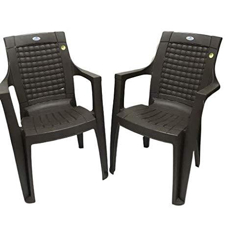 Nilkanth Plastic Chair Set of 2 (Brown)