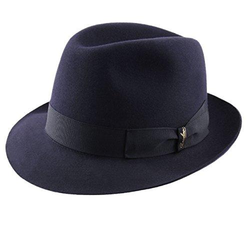 Borsalino - Sombrero Trilby Cuero Hombre Charlait - Talla XL b6731daf376d