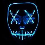 Queta Halloween Maske LED Light EL Wire Cosplay Maske Purge Mask für Festival Cosplay Halloween...