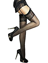 Fiore Luxury Super Fine 20 Denier Sheer Stockings - Available in Black or Red