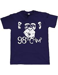 Vectorbomb, 98% Chimpanzé, T-shirt Humoristique Pour Homme