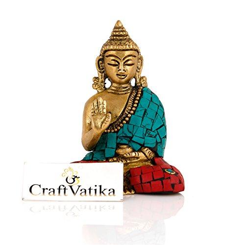 CraftVatika latón estatua de Buda para regalo budismo paz armonía escultura