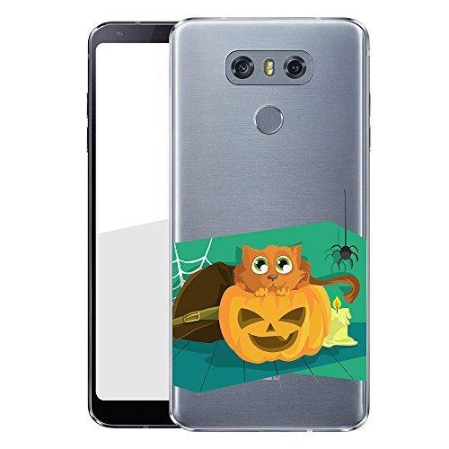 hülle für dein LG G6 Made In Germany Hülle mit Motiv und Optimalen Schutz Tasche Case Cover Schutzhülle für Dein LG G6 - Katze Kürbis ()