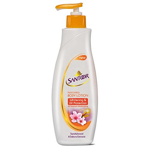 Santoor Whitening and UV Protection Body Lotion for Women, 250ml