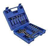 PRENKIN Tool Kit sterzo 13pcs Auto girante del compressore di rimozione Set Blocco del Veicolo estrattore Rimozione della Piastra di Riparazione