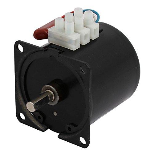 sourcing map AC 220 V 40 RPM Synchronreduktionsgetriebe Motor 60mm Körper Dmr. 7mm Welle
