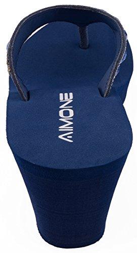 Larissa Navy Blu Wedge Donna Aimone SwqRdgSx