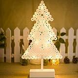 ODJOY-FAN Weihnachten Licht Brett Dekoration Tabelle Pendel Dekor Weihnachten Baum Festival Party Dekoration Ornament Zuhause Beleuchtung Christmas Light (Ohne Akku) (A,1 PC)