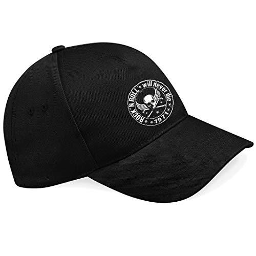 Skull Biker Rockabilly T-Shirt Hotrod Rock n Roll Ramones Metal Rules Chopper...