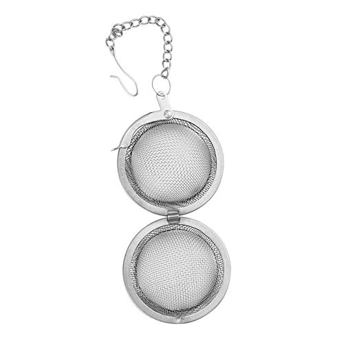 Peanutaod Edelstahl Sphere Locking Spice Tea Ball Sieb Mesh Infuser Teesieb Filter Infusor Mesh Herbal Ball Kochutensilien - Silber