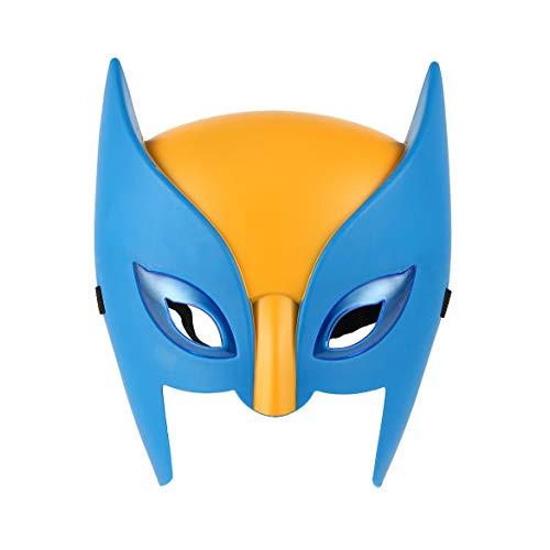 JohnJohnsen Maschera per Bambini Performance Feature Maschera di supereroe Divertente Hot Toy Party Maschera di Halloween Cosplay per Bambini Con luce (blu e Giallo)
