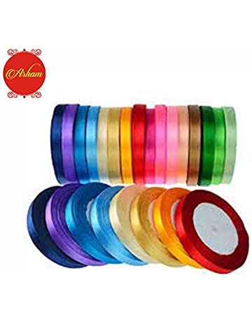 Mixed Pack of Braided Polyester Craft Ribbon//Tape 50 mtr in total 10 Colours