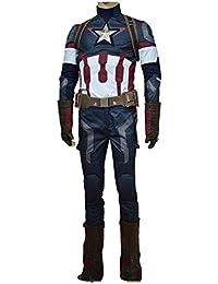 Avengers: Age of Ultron Captain America Steve Rogers Uniform Outfit Cosplay Kostüm