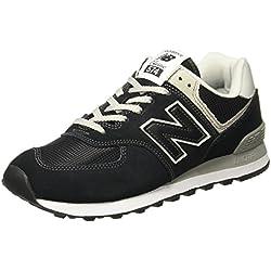New Balance WL574EB, Zapatillas Mujer, Negro (Black), 39 EU