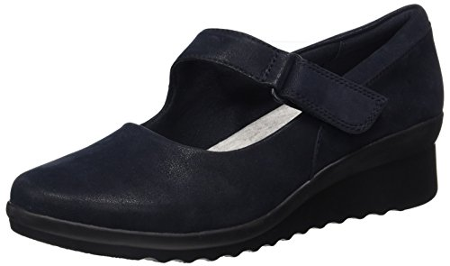 Wedges Schuhe Clark (Clarks Damen Caddell Wedge Ballerine, Blau (Navy), 36 EU)