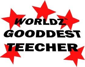 Mister Merchandise Tote Bag Worldz Gooddest Teacher Lehrer Borsa Bagaglio , Colore: Nero Naturale