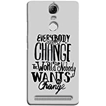 Printfidaa Lenovo K5 Note, Lenovo Vibe K5 Note Pro Back Cover Change Quote Printed Designer Back Case