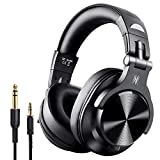 OneOdio A7 Fushion Bluetooth Over Ear Headphones Adapter Free Closed Back Wireless Studio Headphones Protein Leather Earpads Professional DJ Headphones for Recording Monitoring Mixing