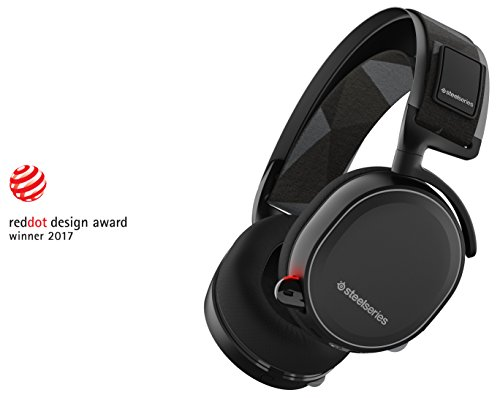 SteelSeries Arctis 7, Gaming Headset, Wireless, DTS 7.1 Surround for PC, (PC / Mac / Playstation / Mobile / VR) – Black