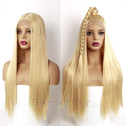 Giannay rubio pelucas Lace Front Wigs 613# Blonde