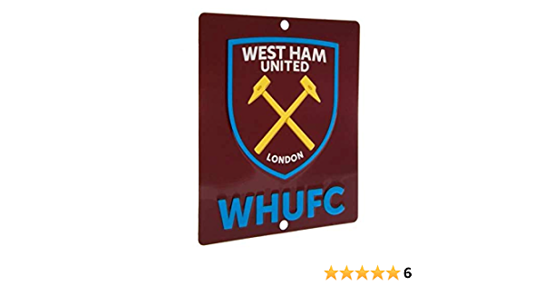 Sign 3D Hanging UPTON PARK Window Official West Ham United F.C