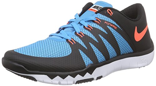 Nike Free Tr 5.0 V6, Chaussures Multisport Indoor homme Bleu - Blau (Black/Hypr Orange-Bl Lgn-White 084)
