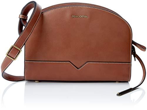 Marc O'Polo Damen Hailey Umhängetasche, Braun (Authentic Cognac), 9.5x28x21 cm - Authentic Designer-handtaschen