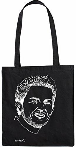 Mister Merchandise Tasche Nico Rosberg Stofftasche , Farbe: Schwarz Schwarz
